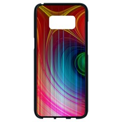 Background Color Colorful Rings Samsung Galaxy S8 Black Seamless Case