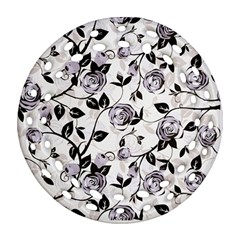Floral Pattern Background Ornament (round Filigree)