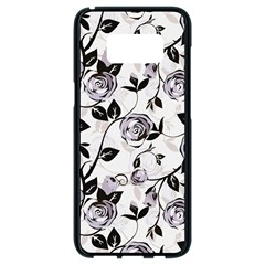 Floral Pattern Background Samsung Galaxy S8 Black Seamless Case