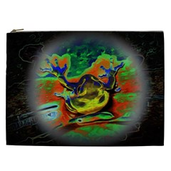 Abstract Transparent Background Cosmetic Bag (xxl)