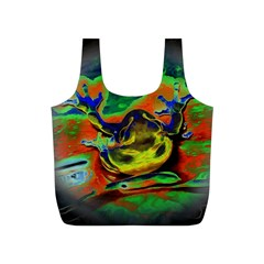 Abstract Transparent Background Full Print Recycle Bag (s)