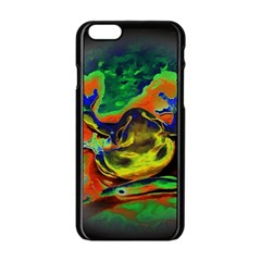 Abstract Transparent Background Apple Iphone 6/6s Black Enamel Case