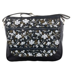 Floral Pattern Background Messenger Bag