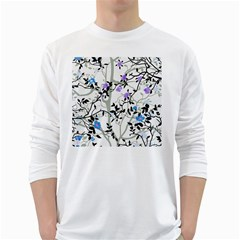 Floral Pattern Background Long Sleeve T Shirt