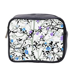 Floral Pattern Background Mini Toiletries Bag (two Sides)