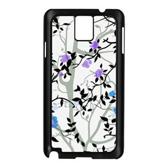 Floral Pattern Background Samsung Galaxy Note 3 N9005 Case (black) by Samandel