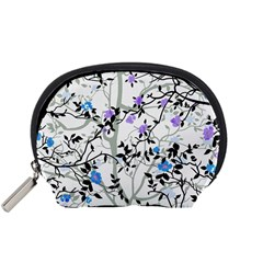 Floral Pattern Background Accessory Pouch (small)