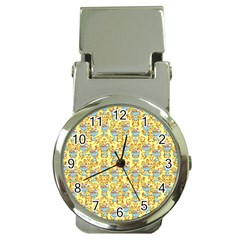 Paisley Yellow Sundaes Money Clip Watches by snowwhitegirl