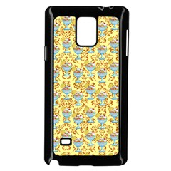 Paisley Yellow Sundaes Samsung Galaxy Note 4 Case (black) by snowwhitegirl