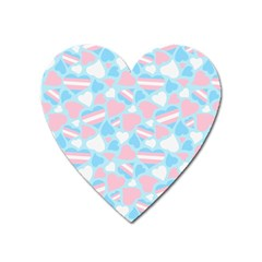 Transgender Pride Hearts; A Cute Trans Pride Motif! Magnet (heart) by PrideMarks