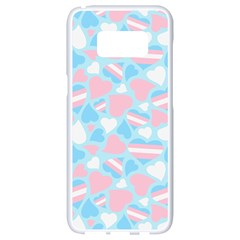 Transgender Pride Hearts; A Cute Trans Pride Motif! Samsung Galaxy S8 White Seamless Case by PrideMarks