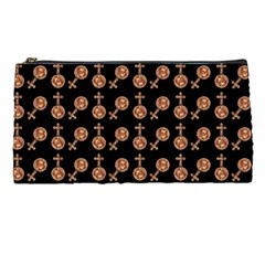 Victorian Crosses Black Pencil Cases by snowwhitegirl