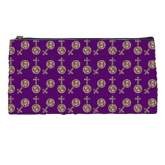Victorian Crosses Purple Pencil Cases by snowwhitegirl
