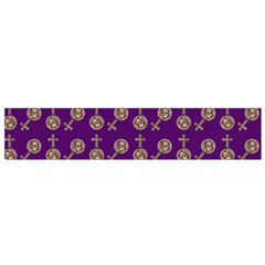 Victorian Crosses Purple Small Flano Scarf by snowwhitegirl