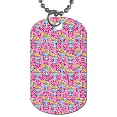 Paisley Pink Sundaes Dog Tag (two Sides) by snowwhitegirl