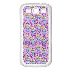 Paisley Lilac Sundaes Samsung Galaxy S3 Back Case (white) by snowwhitegirl