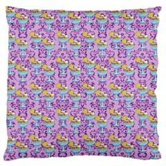 Paisley Lilac Sundaes Large Flano Cushion Case (two Sides) by snowwhitegirl