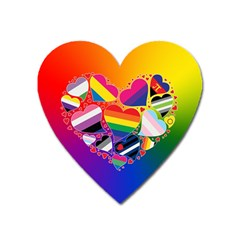 Lgbt Community Pride Heart Magnet (heart) by PrideMarks