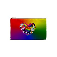 Lgbt Community Pride Heart Cosmetic Bag (small) by PrideMarks