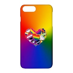 Lgbt Community Pride Heart Apple Iphone 8 Plus Hardshell Case by PrideMarks