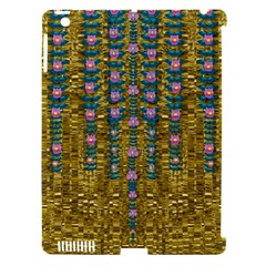 Gold Jungle And Paradise Liana Flowers Apple Ipad 3/4 Hardshell Case (compatible With Smart Cover) by pepitasart