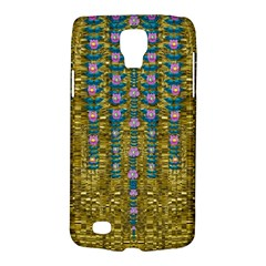 Gold Jungle And Paradise Liana Flowers Samsung Galaxy S4 Active (i9295) Hardshell Case by pepitasart