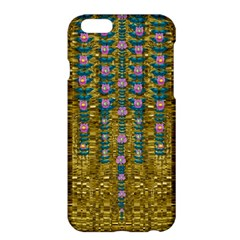 Gold Jungle And Paradise Liana Flowers Apple Iphone 6 Plus/6s Plus Hardshell Case by pepitasart