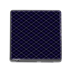 Blue Plaid  Memory Card Reader (square 5 Slot) by dressshop