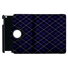 Blue Plaid  Apple Ipad 2 Flip 360 Case by dressshop