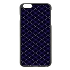 Blue Plaid  Apple Iphone 6 Plus/6s Plus Black Enamel Case by dressshop