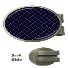 Blue Plaid  Money Clips (oval)