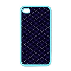 Blue Plaid  Apple Iphone 4 Case (color) by dressshop