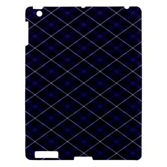 Blue Plaid  Apple Ipad 3/4 Hardshell Case by dressshop