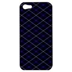 Blue Plaid  Apple Iphone 5 Hardshell Case by dressshop