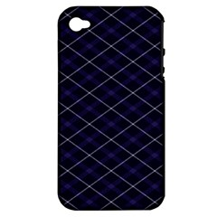 Blue Plaid  Apple Iphone 4/4s Hardshell Case (pc+silicone) by dressshop