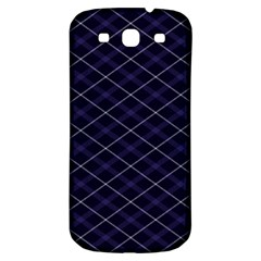 Blue Plaid  Samsung Galaxy S3 S Iii Classic Hardshell Back Case