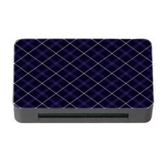 Blue Plaid  Memory Card Reader With Cf by dressshop