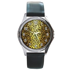 Leopard 1 Leopard A Round Metal Watch by dressshop
