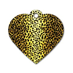 Leopard 1 Leopard A Dog Tag Heart (one Side) by dressshop