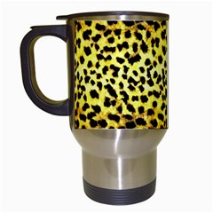 Leopard Version 2 Travel Mugs (white) by dressshop