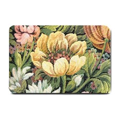 Retro Vintage Floral Small Doormat  by dressshop