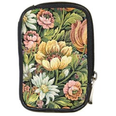 Retro Vintage Floral Compact Camera Leather Case by dressshop