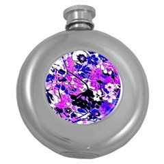 Floral Legging Floral Rug Round Hip Flask (5 Oz) by dressshop