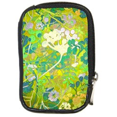Floral 1 Abstract Compact Camera Leather Case by dressshop
