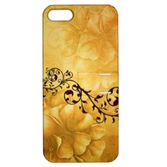 Wonderful Vintage Design With Floral Elements Apple Iphone 5 Hardshell Case With Stand by FantasyWorld7