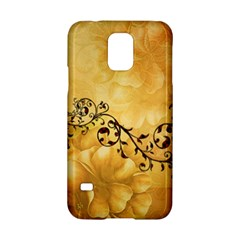 Wonderful Vintage Design With Floral Elements Samsung Galaxy S5 Hardshell Case  by FantasyWorld7