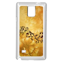 Wonderful Vintage Design With Floral Elements Samsung Galaxy Note 4 Case (white) by FantasyWorld7