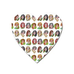 All The Pretty Ladies Heart Magnet by ArtByAng