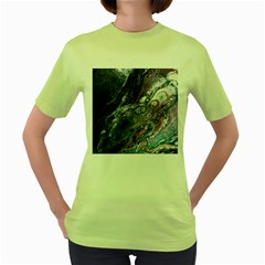 Planetary Women s Green T Shirt by ArtByAng