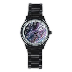 Planetary Stainless Steel Round Watch